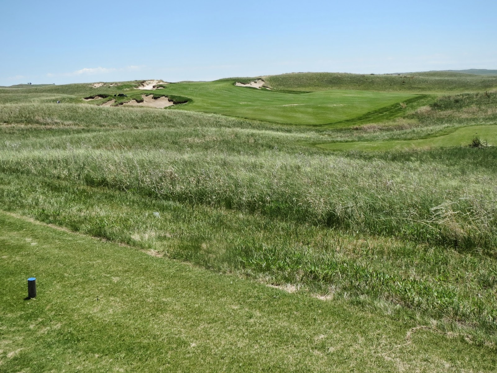 the first hole tee shot on the nicklaus course at the dismal river club in mullen ne