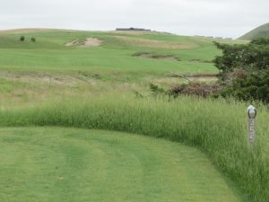 The 14th hole on the Tom Doak course at the Dismal River Golf Club in Mullen, NE