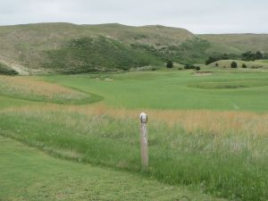 The 15th hole on the Tom Doak course at the Dismal River Golf Club in Mullen, NE