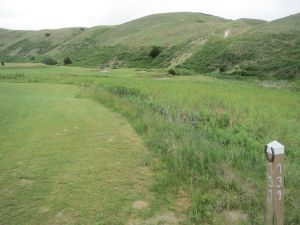 The 16th hole on the Tom Doak course at the Dismal River Golf Club in Mullen, NE