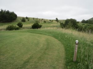 The 17th hole on the Tom Doak course at the Dismal River Golf Club in Mullen, NE