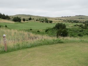 The 18th hole on the Tom Doak course at the Dismal River Golf Club in Mullen, NE
