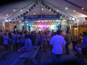 Tented live music area of FloraBama