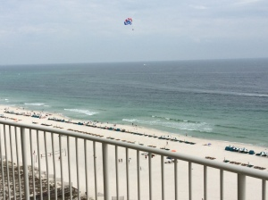 View of the beach from our 9th story condo at Turquoise Place in Orange Beach / Gulf Shores, Alabama