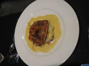 Salmon entree at P2O5 restaurant at Streamsong Resort