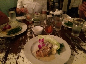 Coconut Grouper entree at Shipp's Harbour Grill