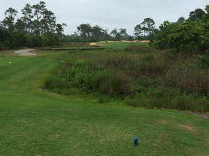 18th hole tee-shot at Lost Key Golf Club in Perdido Key, FL