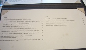 Menu at Sottoterra Ristorante at Streamsong Resort