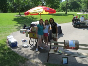 Hot dog cart by the 7th tee