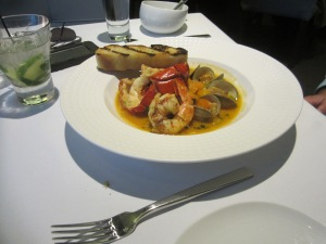Lobster cioppino entree at SottoTerra at Streamsong
