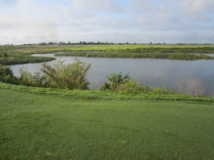 Controlled fire on the future site of Gil Hanse's Black course at Streamsong Resort