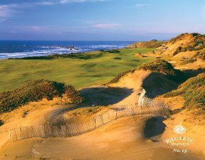 13th hole at Pacific Dunes (courtesy of Bandon Dunes website)