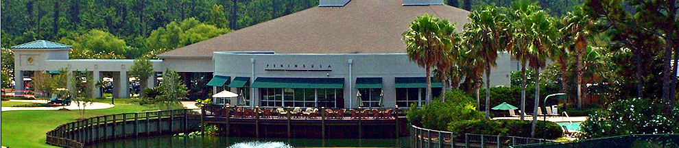Peninsula Golf Club clubhouse (screen capture from PGC website)