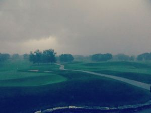 Flash storm from the lounge at Westmoor Country Club