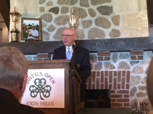 General Chairman of the 2017 US Open at Erin Hills, Jim Reinhart