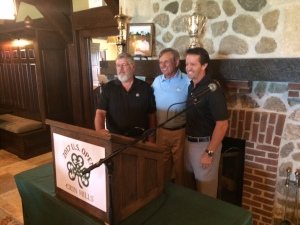 Erin Hills' course designers Ron Whitten, Michael Hurdzan and Dana Frye at the 2015 US Open media day event