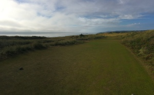 Panoramic view of the 13th hole at Pacific Dunes