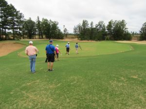The long par three 3rd hole (195/180/155/130/110) at Sand Valley Golf Resort