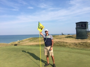 Hole Marshal for the par four 14th at Whistling Straits, Straits course for the 2015 PGA Championship in Kohler, WI (taken after the tournament was completed)