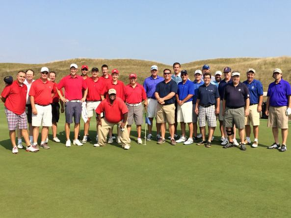 2015 Writer's Cup at the Chicago Highlands Club Team Wisconsin in red, Team Illinois in blue