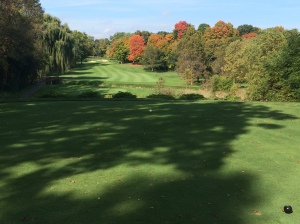 Par five 4th hole at North Hills Country Club in Menomonee Falls, WI
