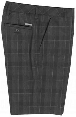Ashworth Mens Performance Plaid Flat Front Shorts