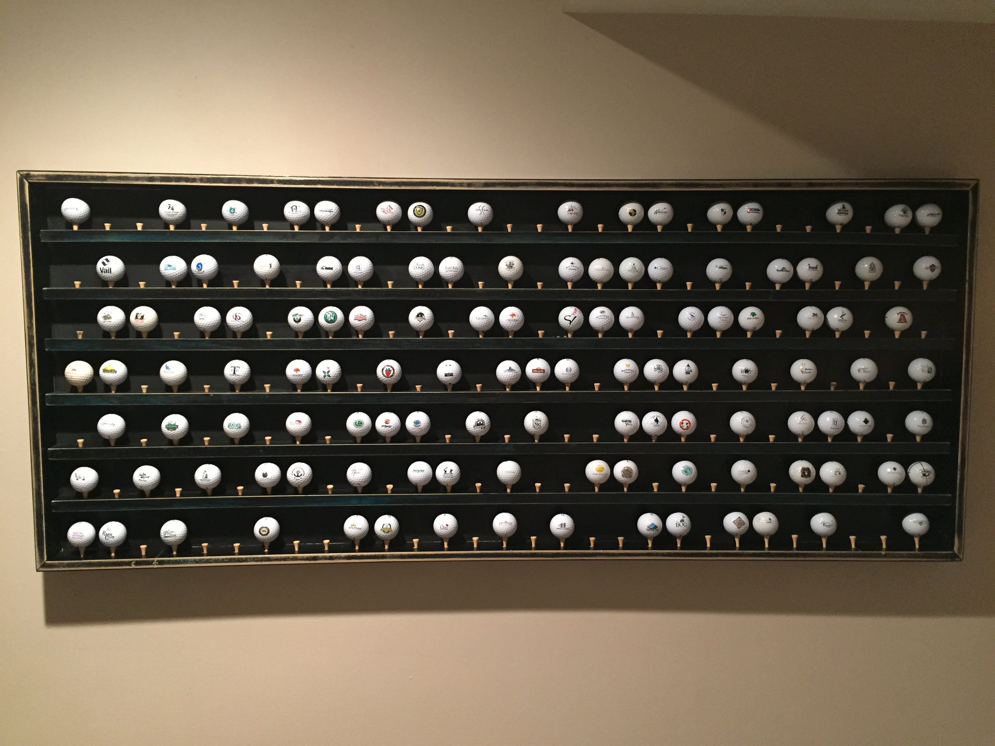 Bon Golf Ball Display Cabinet Project, Part 2