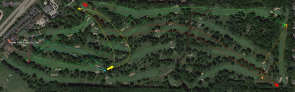"Our 3,593-yard six-hole layout at the inaugural North Hills ""Cross-Country Club"""