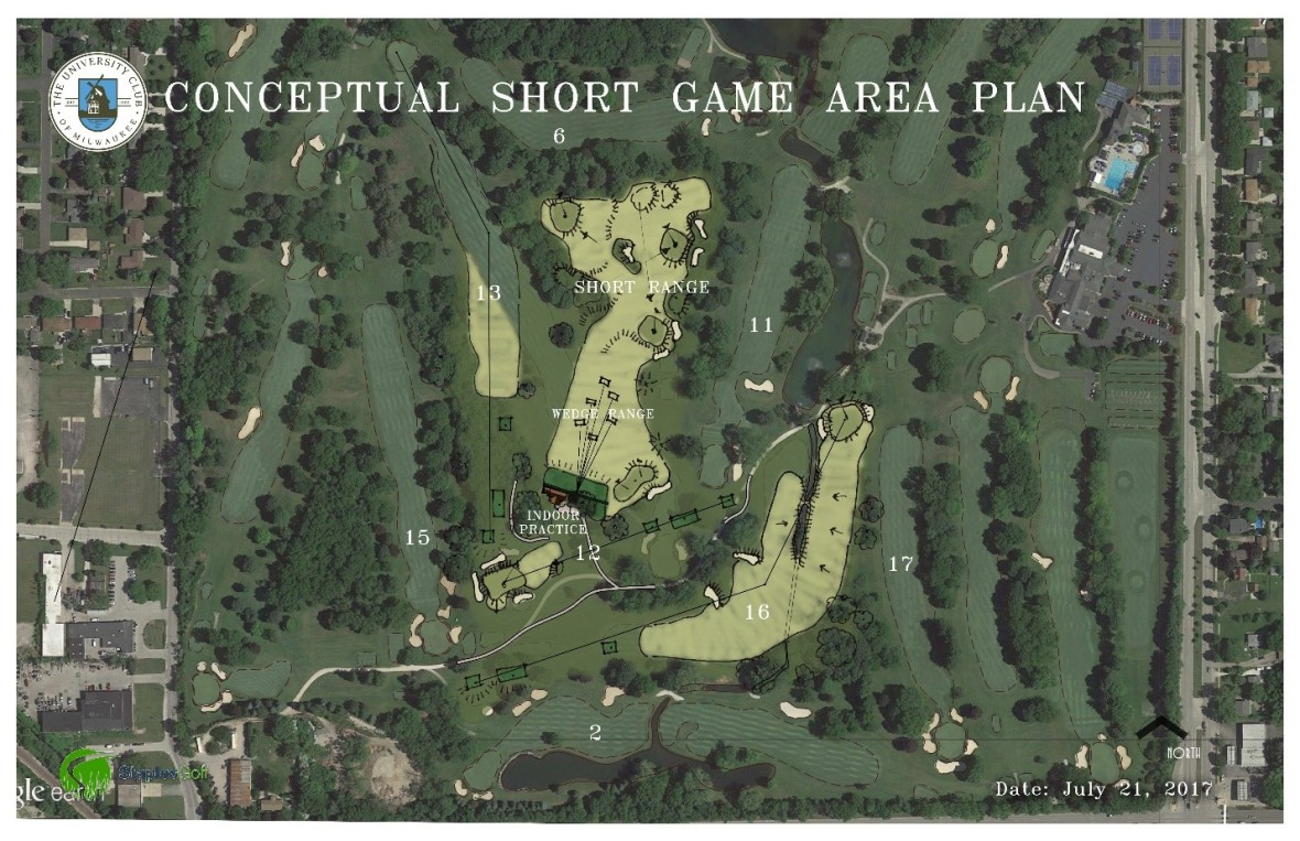 The University Club short game area plan