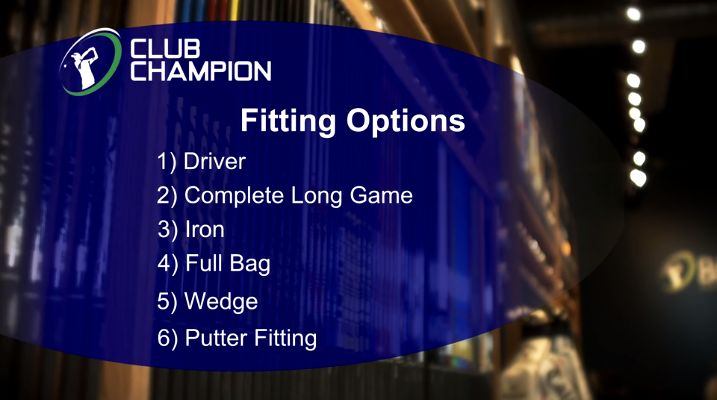 Club Champion fitting experience video from website